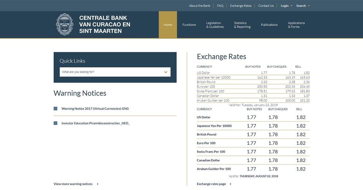 Home - Centrale Bank Curacao & Sint Maarten