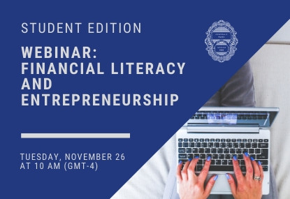 Webinar: Financial Literacy and Entrepreneurship - Student Edition